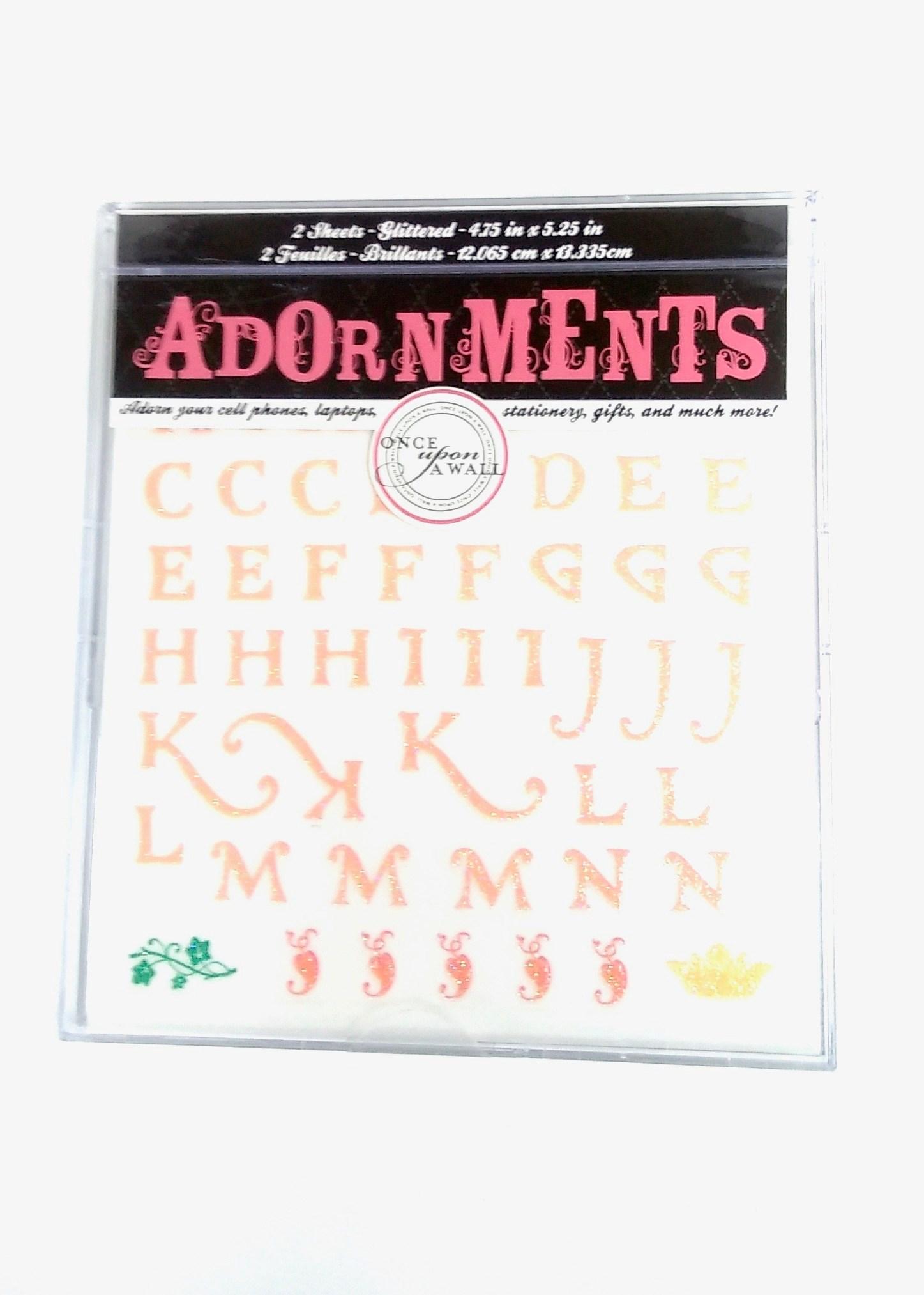 Adornment Glitter Alpha Fairytale Peel & Stick