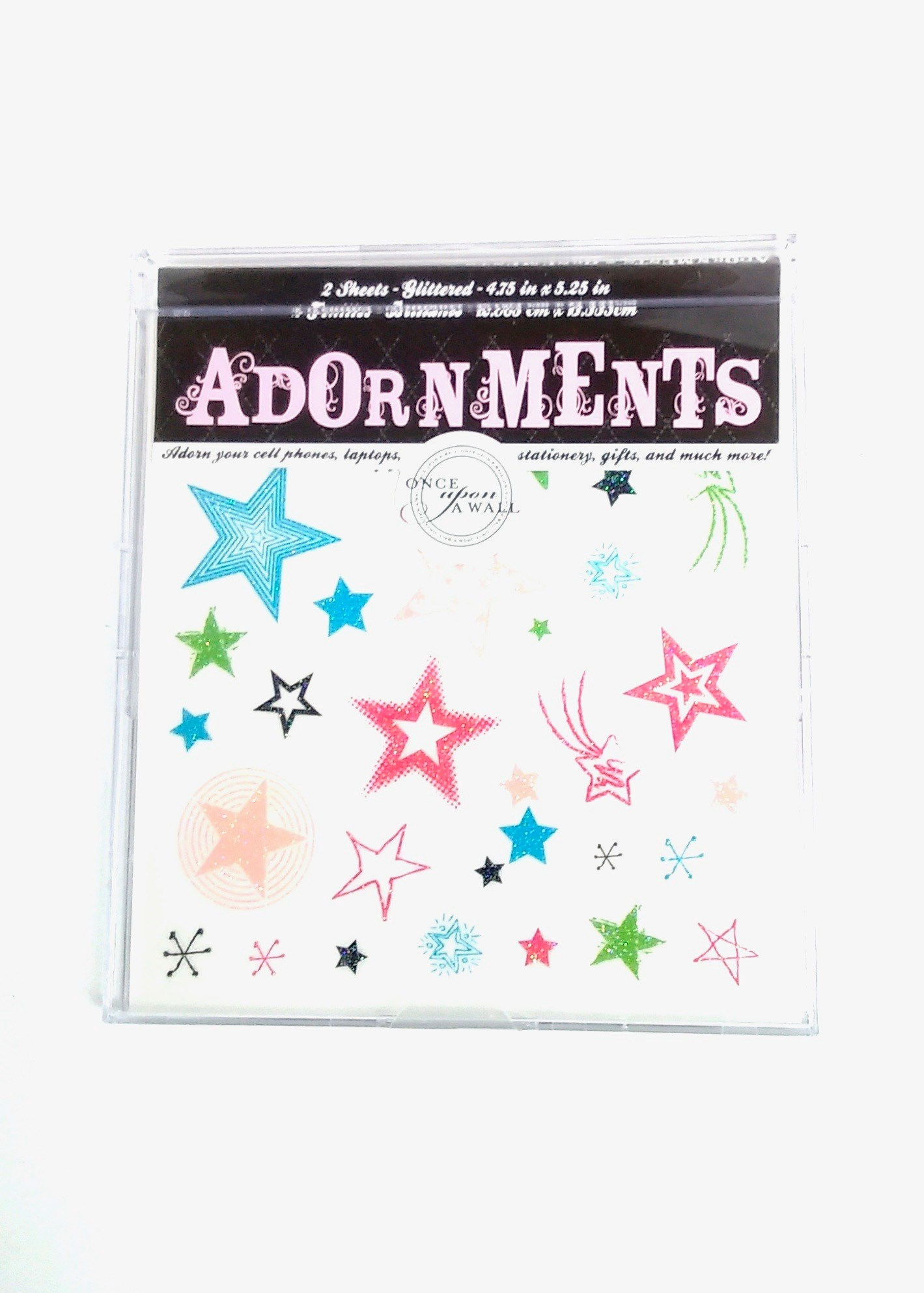 Adornment Glitter Stars Peel & Stick