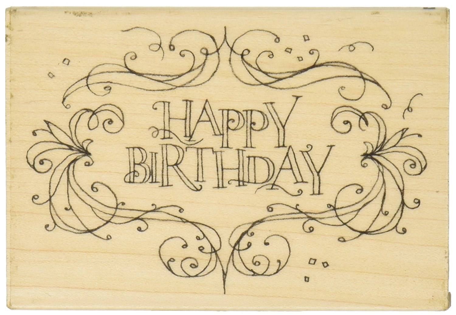 Acrylic Happy Birthday Stamp