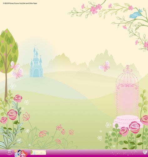Princess Tiana Glitter Paper PER SHEET
