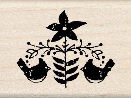 Inkadinkado Folk Cardinals Wood Stamp