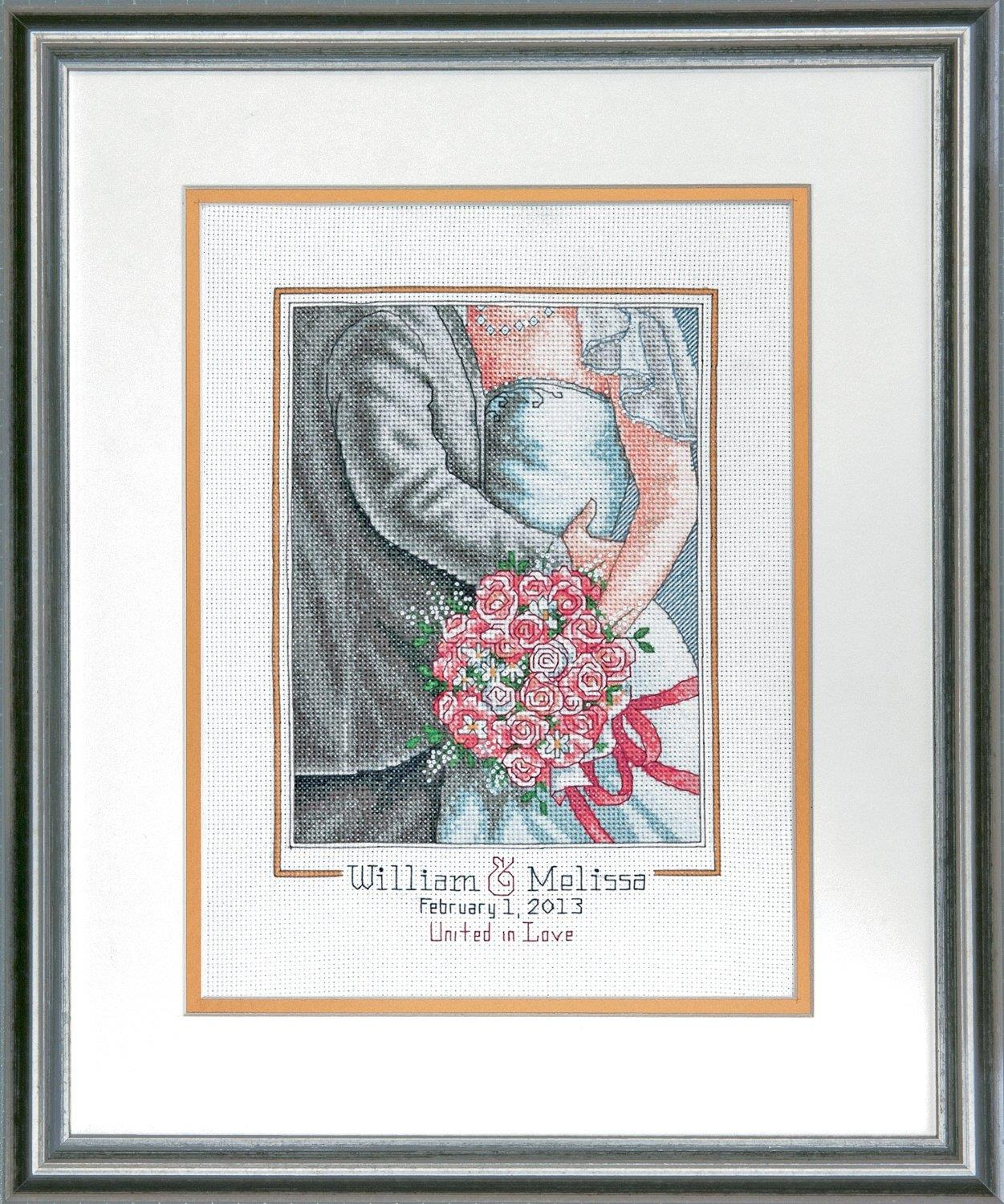 10x10 Embrace Wedding Record Embroidery Kit