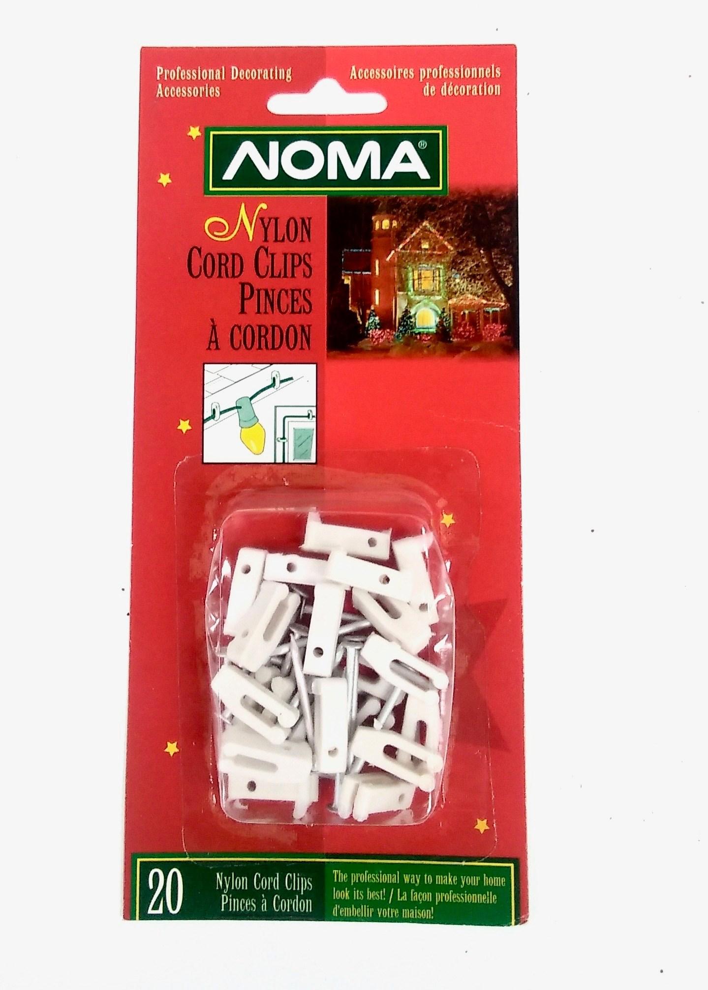 Nylon Cord Clips 20/Card
