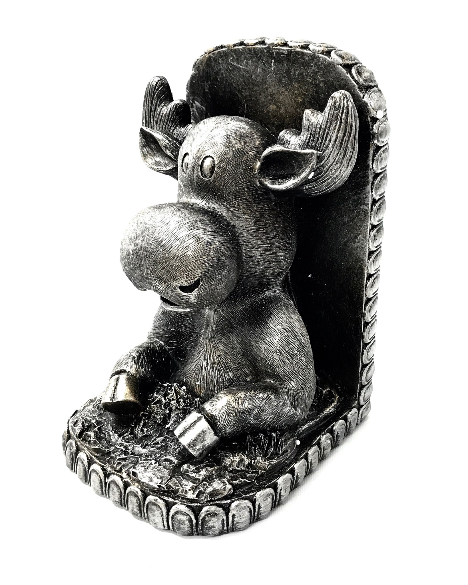 Moose Bookend Pewter