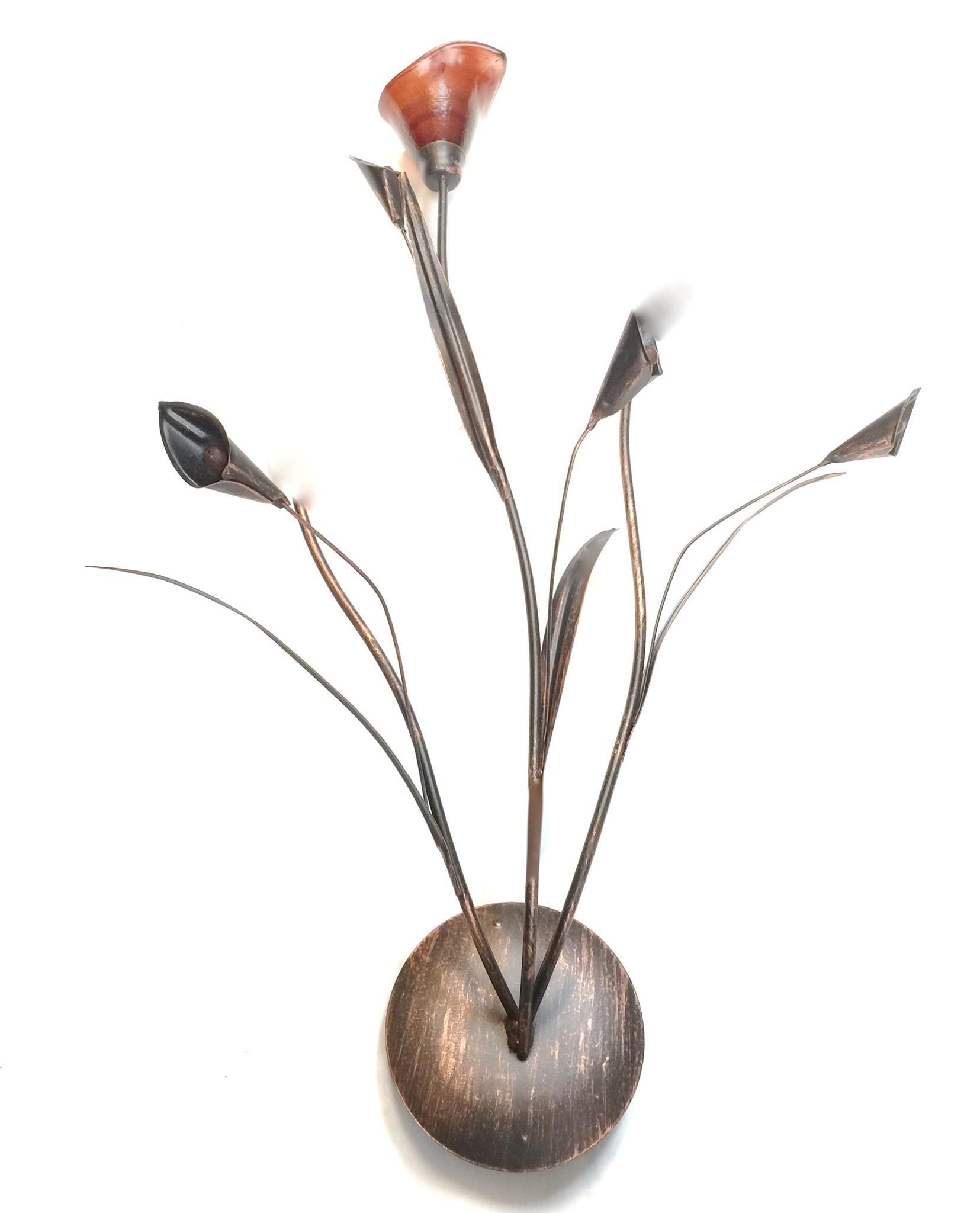 Copper Lily Sconces 1X Sconce