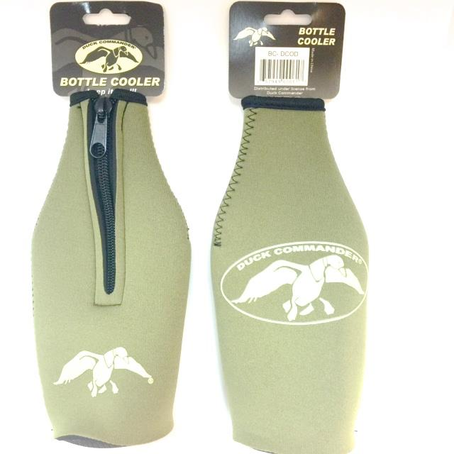 Duck Olive Inner Poly Bottle Koozie