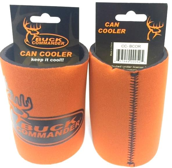Buck Orange Can Koozies