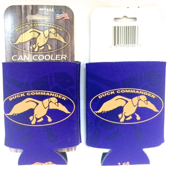 Duck Command Collapsible Can Koozie Pur/Gold