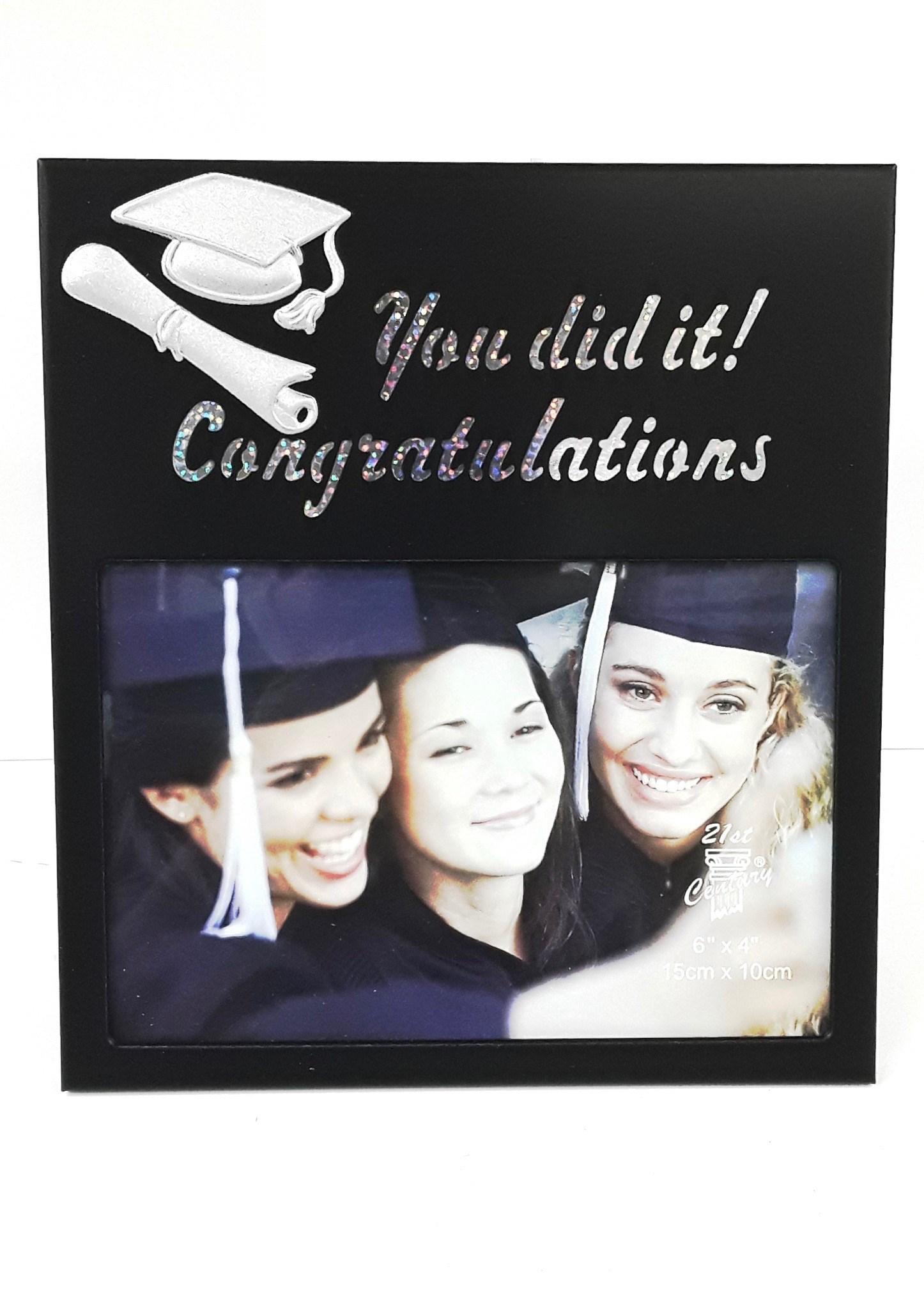6x4 You Did It Graduation Frame
