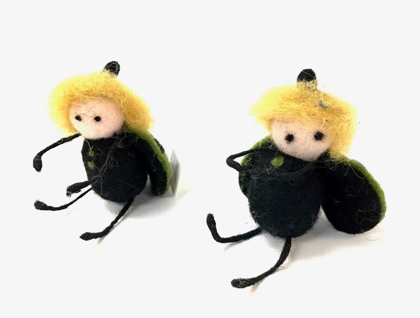 Hanging Green Ladybug Set/2