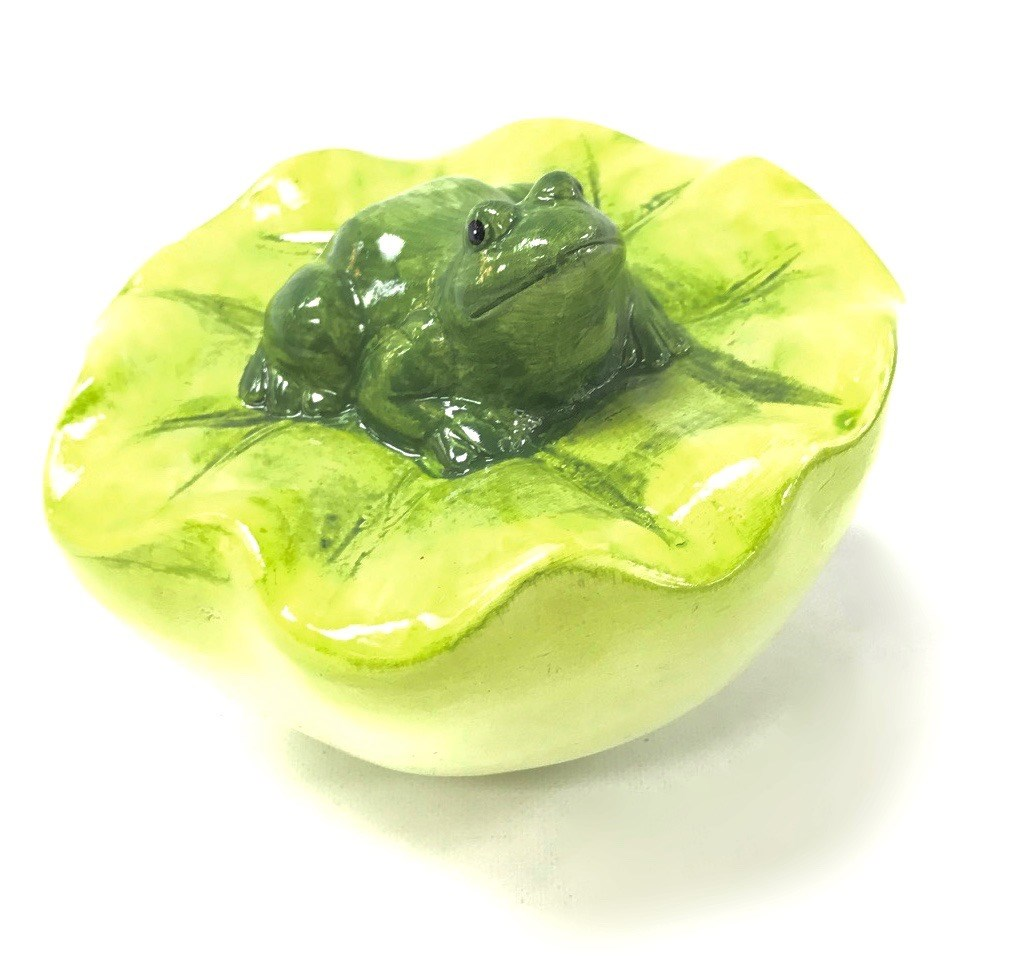 Floating Frog Lily Pad