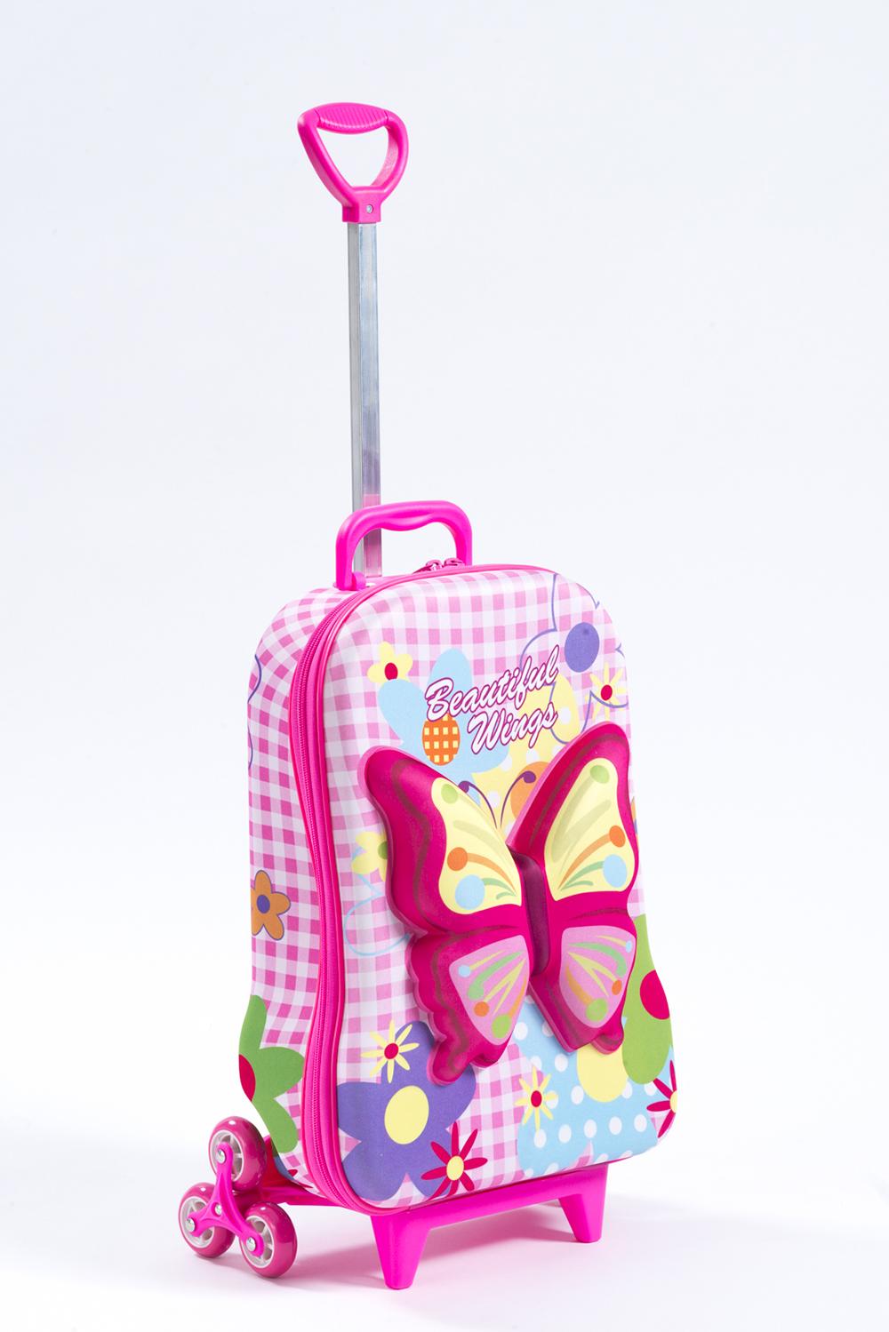 3 Wheel Rolling Bag - Butterfly