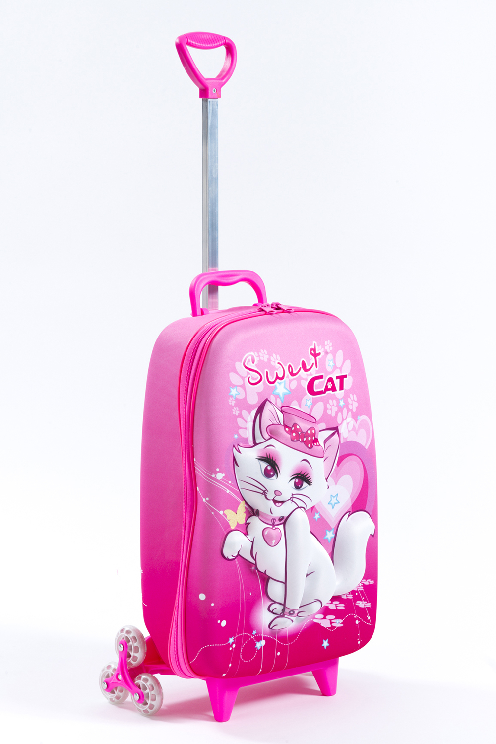 3 Wheel Rolling Bag - Sweet Cat