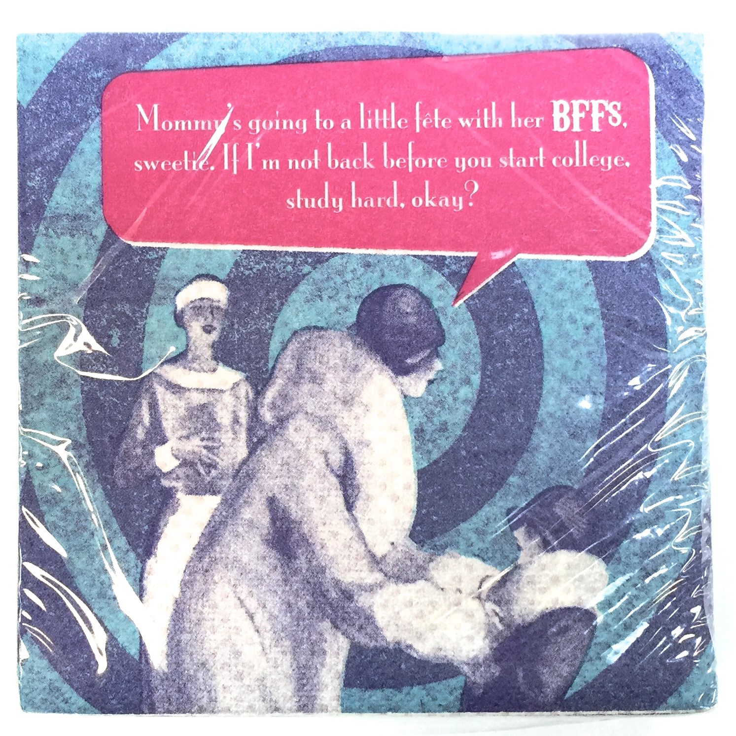 "20 Ct Beverage Napkin - ""BFF's"""