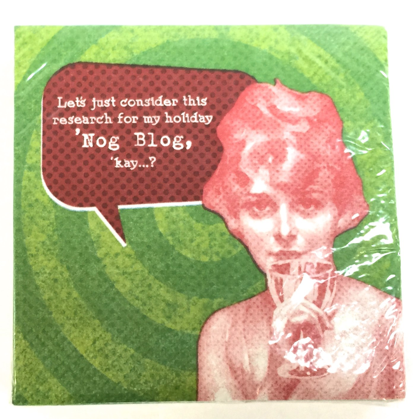 "20 Ct Beverage Napkin - ""Nog"""