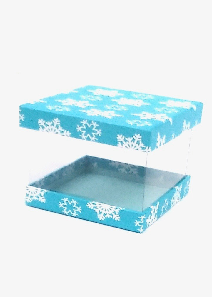 Gift Box Clear Flakes Turquoise