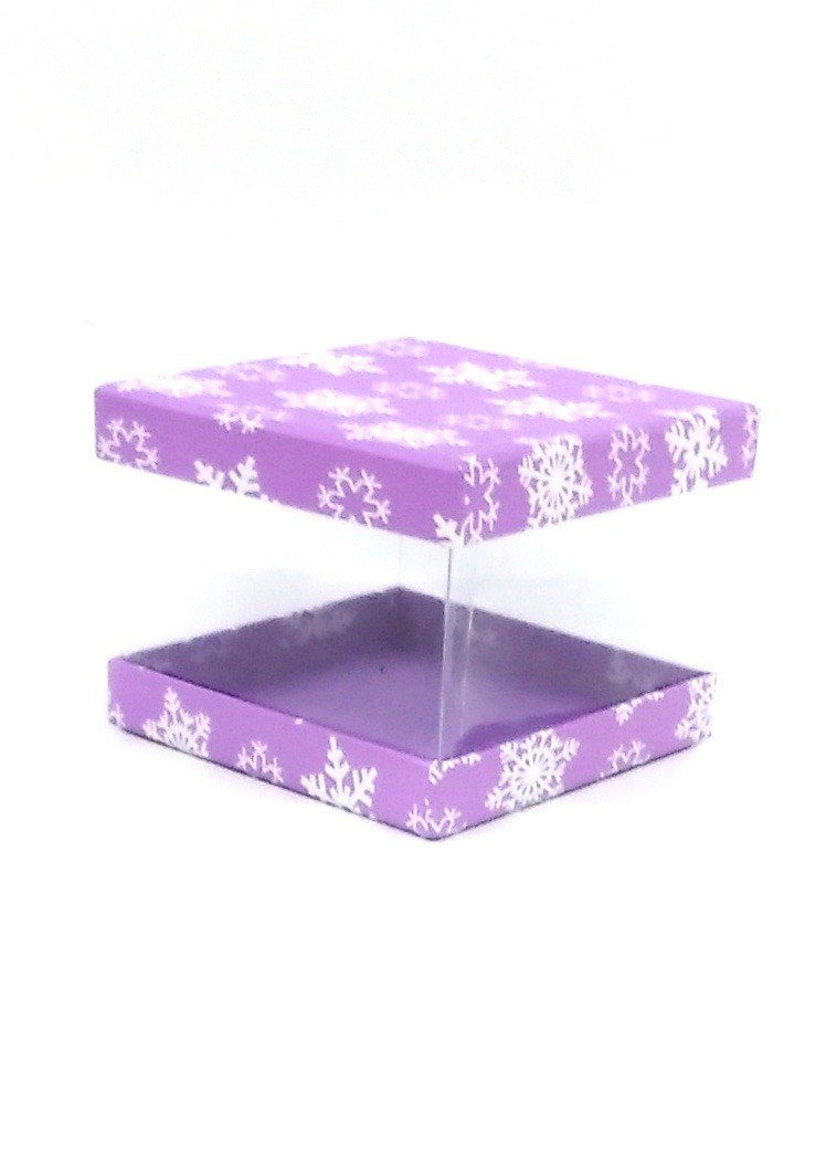 Gift Box Clear Flakes Purple