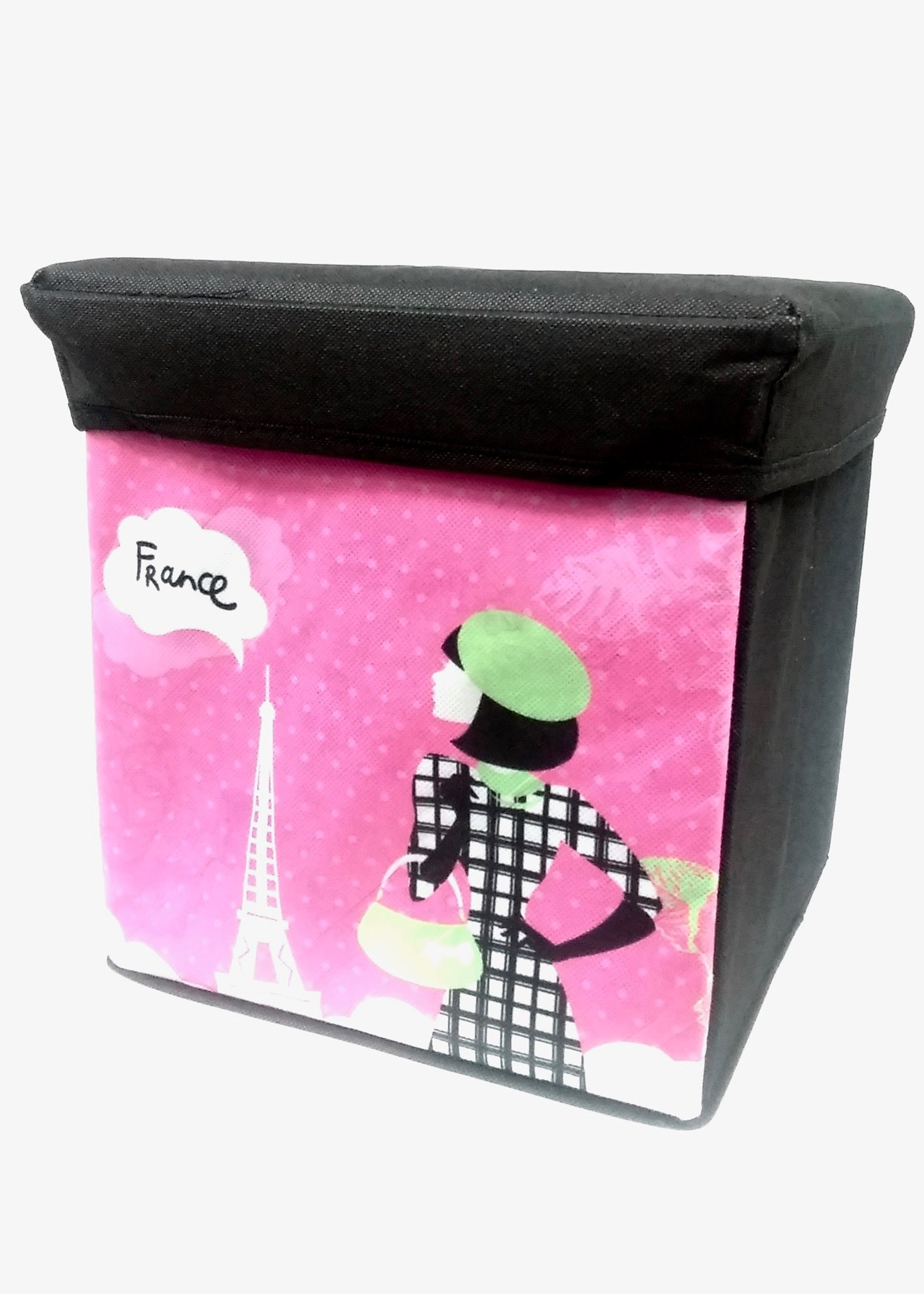 Storage Stool - Paris Lady