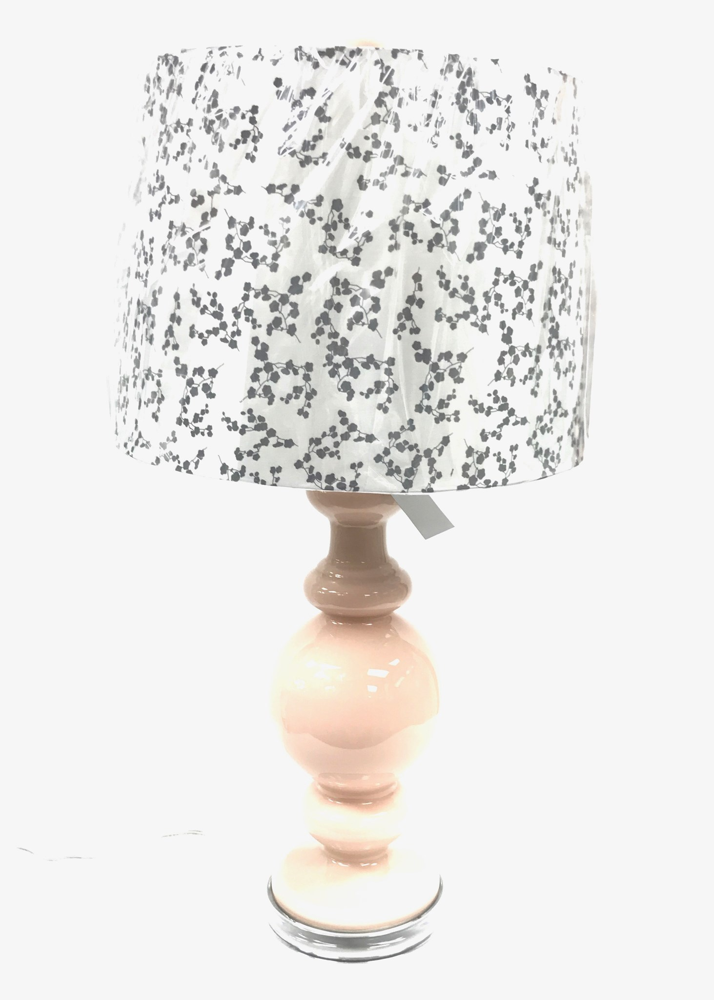 """27"""" Glass Lamp - Rose - As Is"""