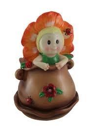 "10"" Flower Baby Brown Pot"