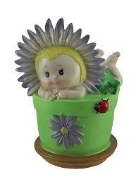 """10"""" Flower Baby Green Pot"""