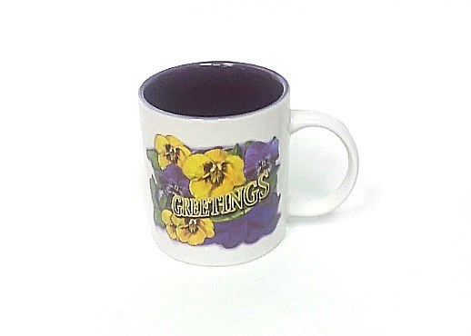 Mug Pansy Greetings