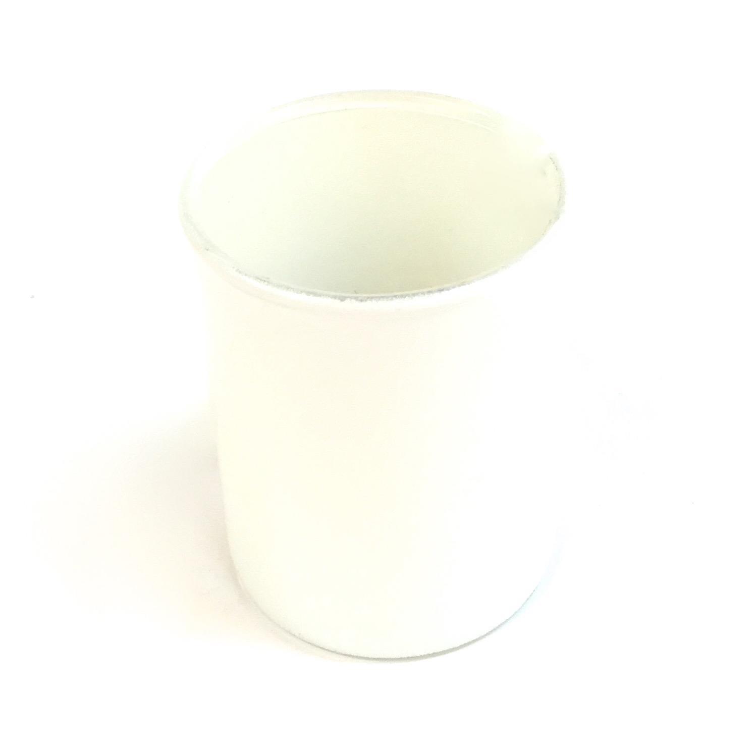 Large White Glass Votive
