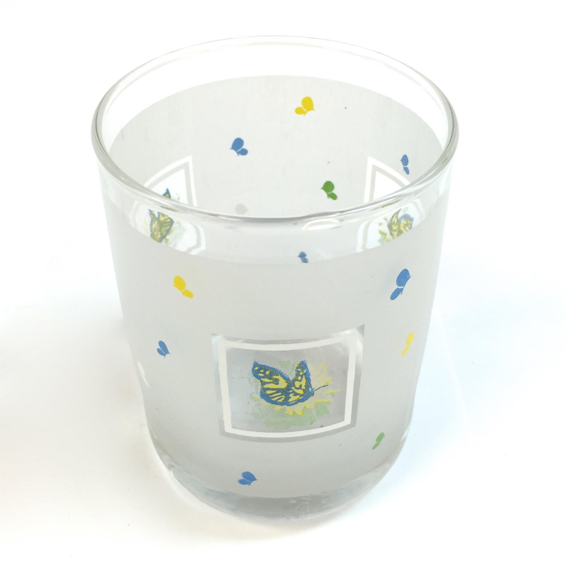 Frost Butterfly Glass Votive