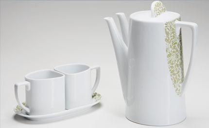 Teapot Set Acorn Leaf Sage