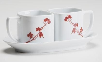 Teacups and Saucer Dogwood Blossom (Brn Box)