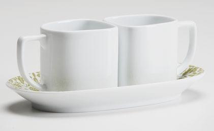 Espresso Set Acorn Leaf Sage