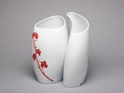 Large Vase 2/A Dogwood Blossom Flame