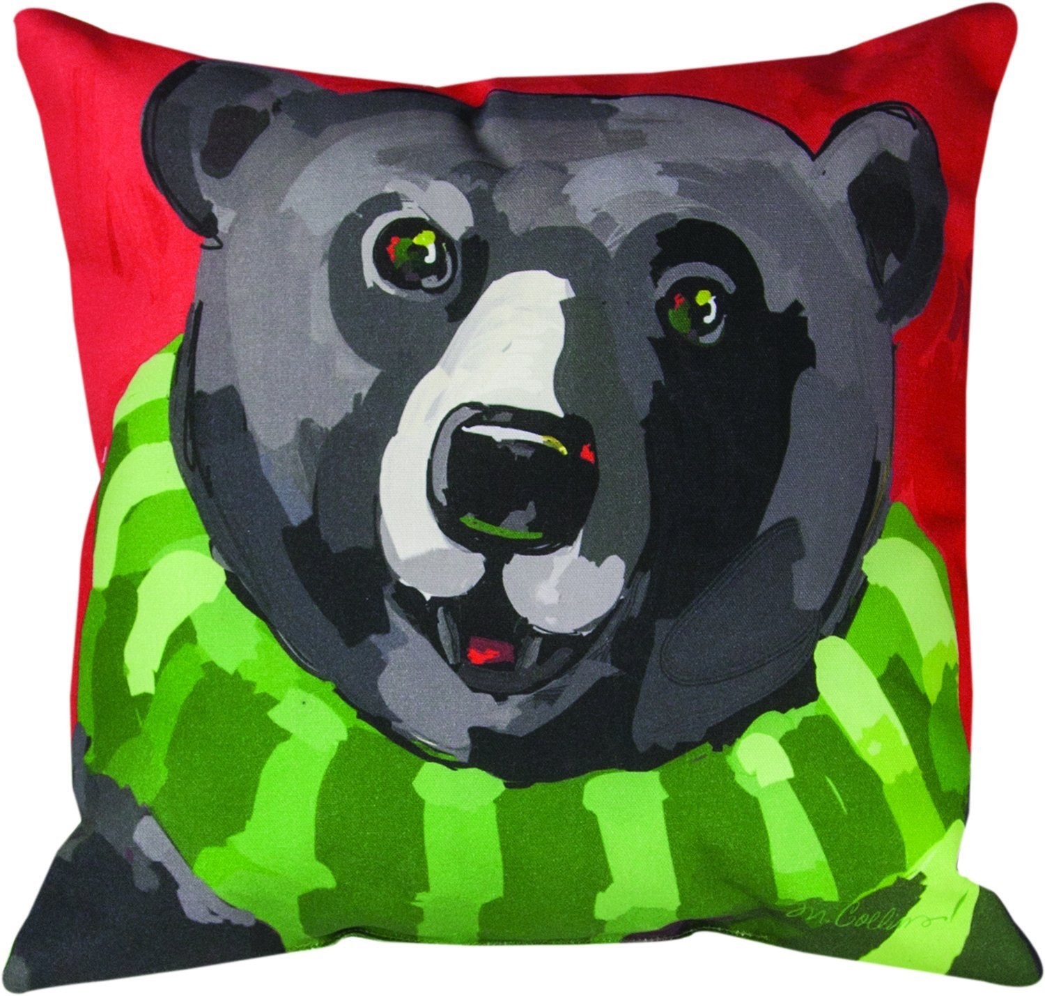 Woodland Black Bear Pillow