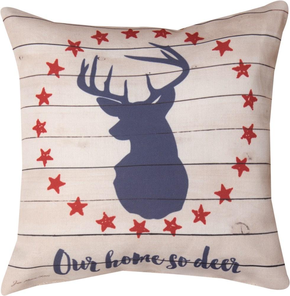 """Home So Deer 12"""" Pillow"""