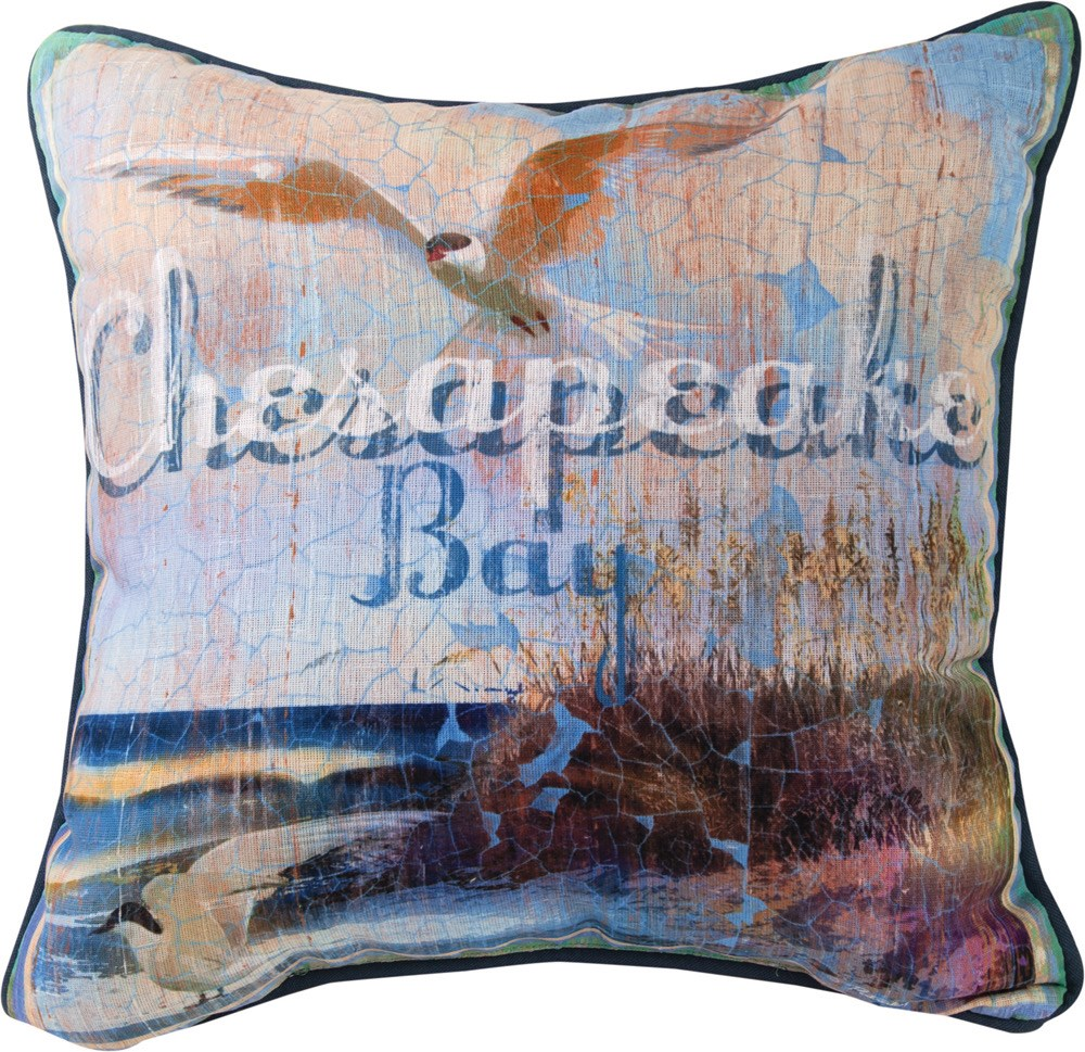 Chesapeake Bay Pillow 18x18