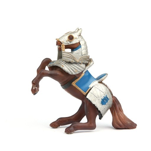 Armoured Reared Up Horse Blue