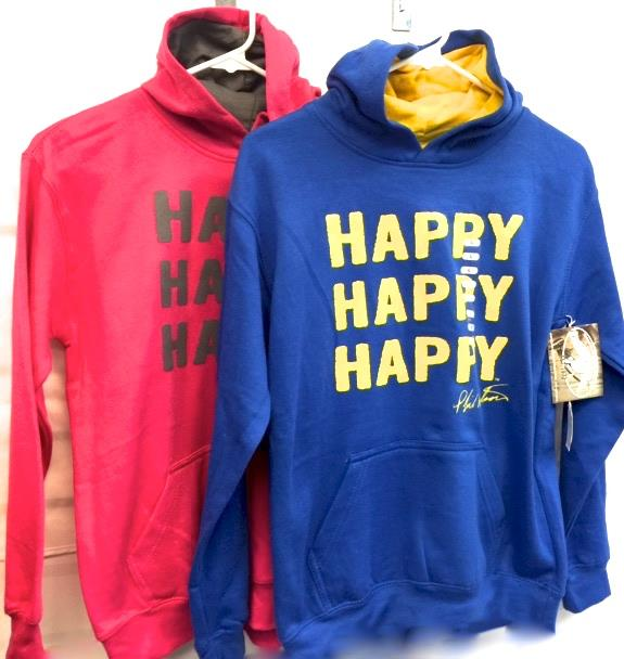 Youth Happy Hoodie Blue/Pink Asst