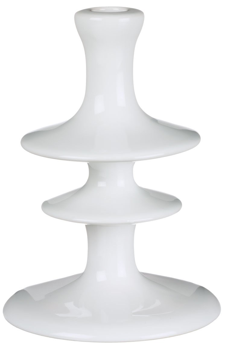 "8"" Candle Holder - Shiny White"