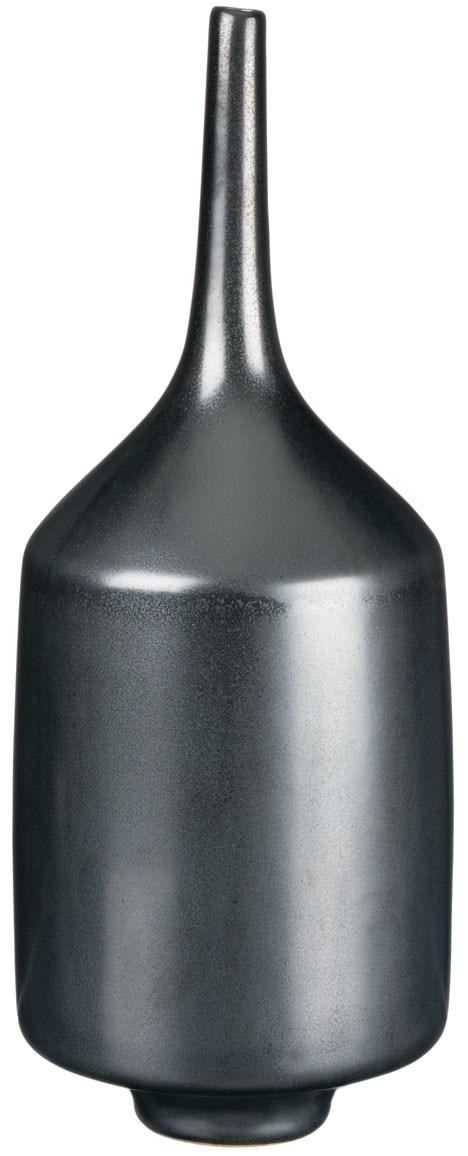 """11.5"""" Spindle Vase - Black Metal"""