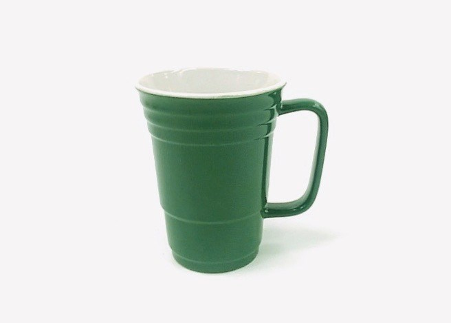 14 Oz White In/Green Out Solo Mug