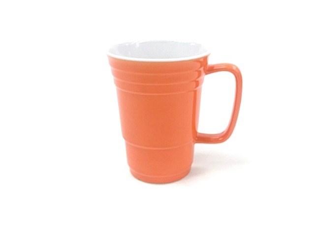 14 Oz White In/Orange Out Solo Mug