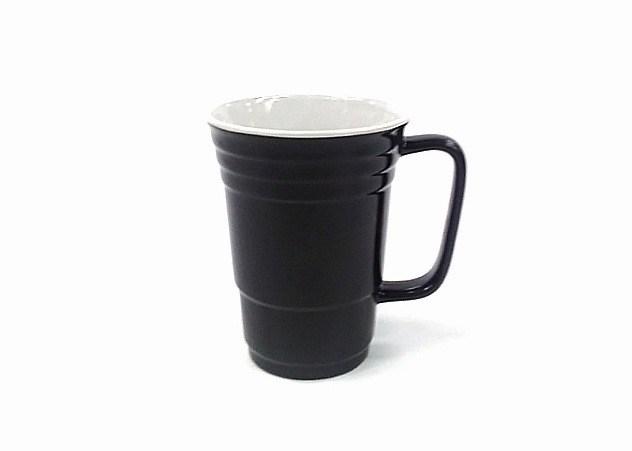 14 Oz White In/Black Out Solo Mug