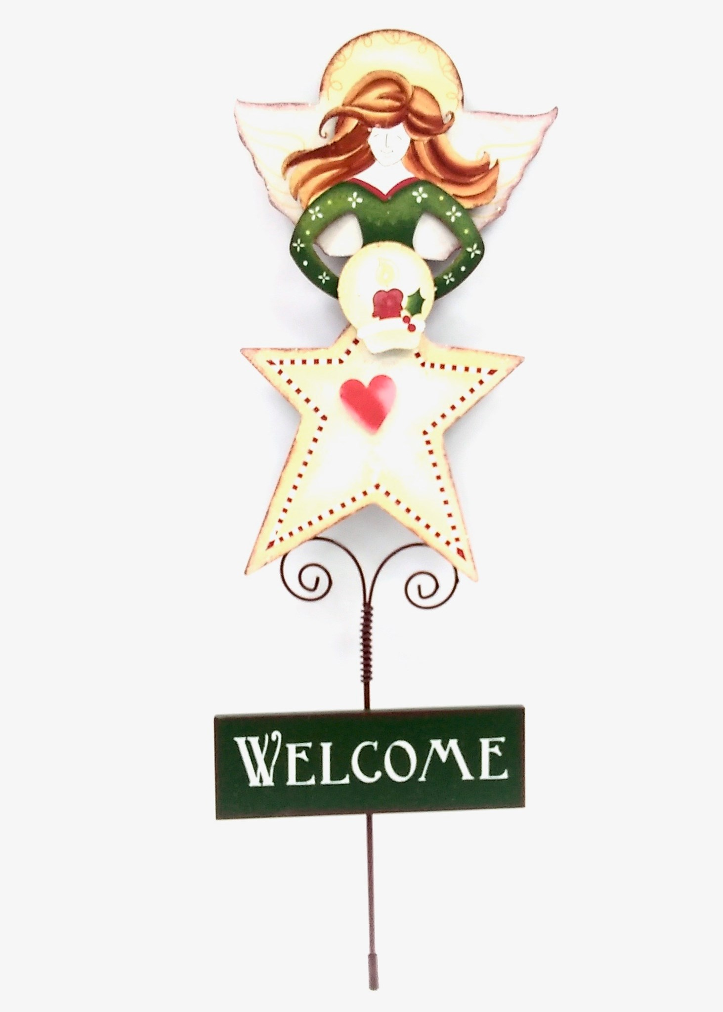 Garden Stake Welcome Angel