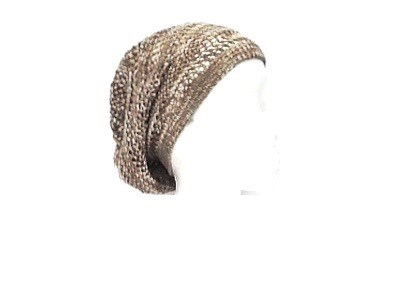 Brown/White Knit Hat