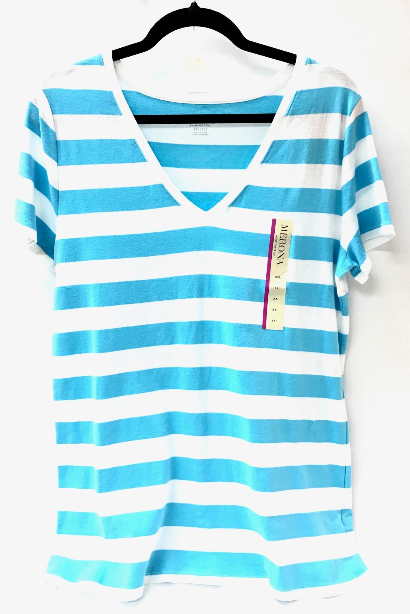 Blue/White Strip Shirt Size Large