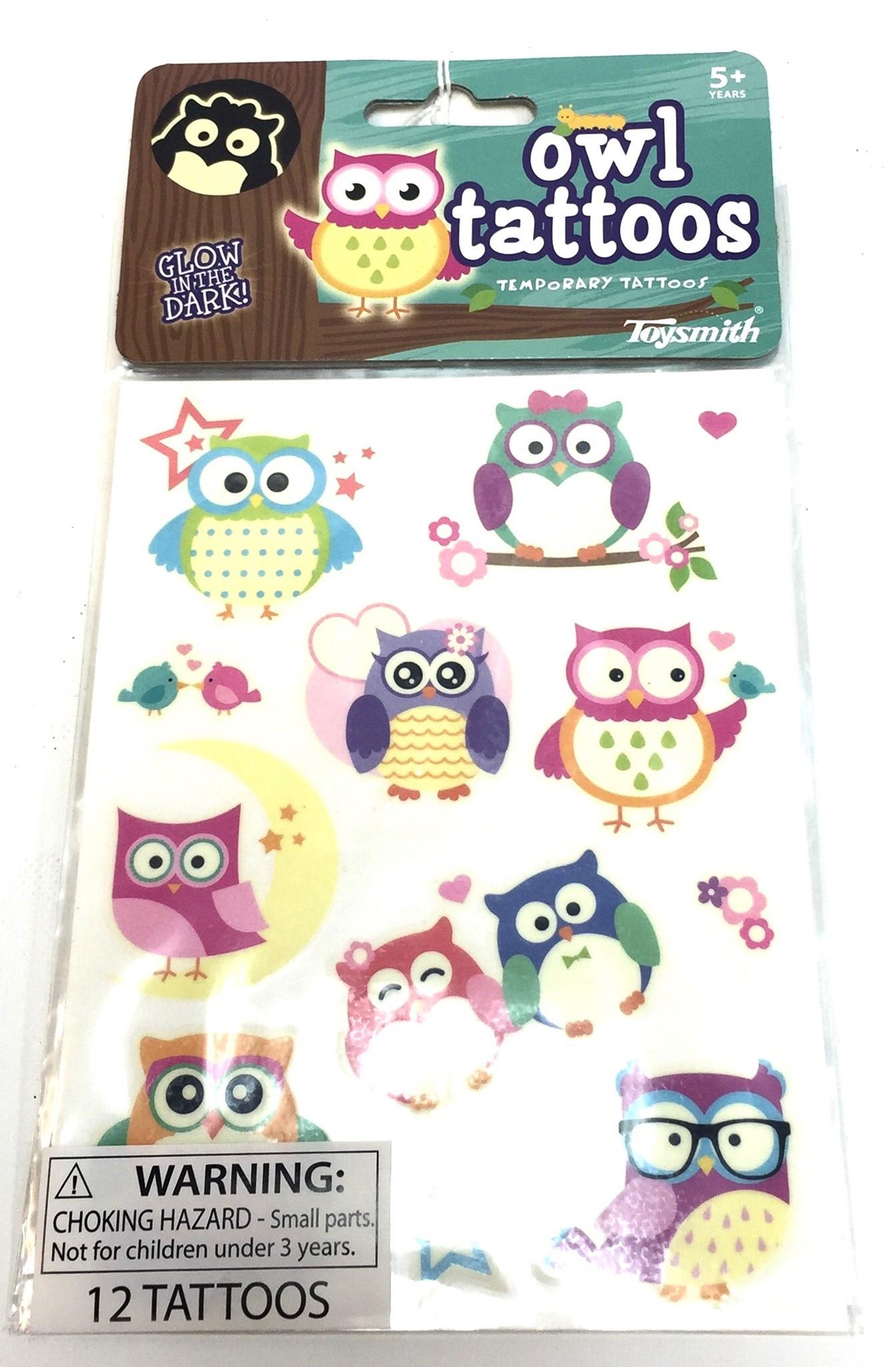 Glow Owl Tattoos