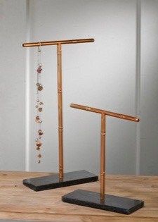 Small Rose Gold Black Marble Jewelry Holder