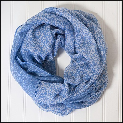 Billowing Floral Infinity Scarf Asst*