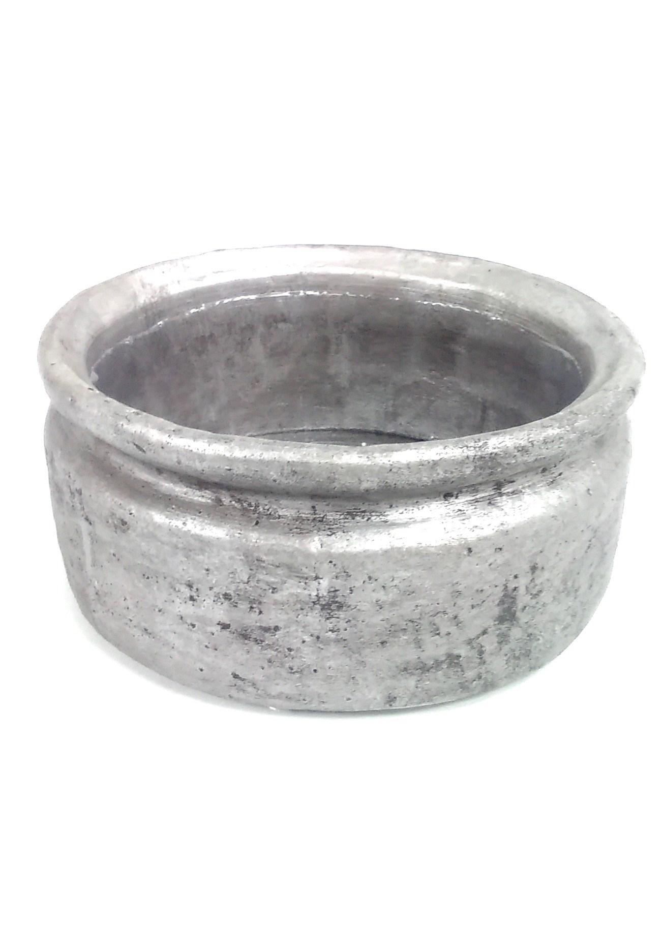 "4"" x 9"" Vase w/Liner Silver"