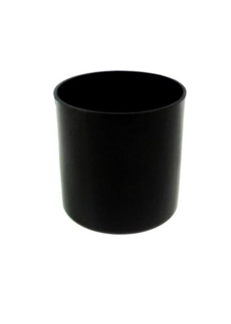 """5"""" x 5"""" Cylinder Vase Black"""